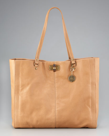 Happy Shopping Tote, Beige