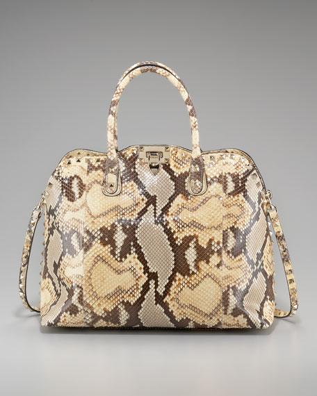 Rockstud Python Dome Bag