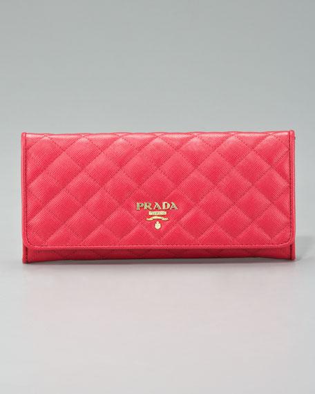 Quilted Saffiano Zip Wallet