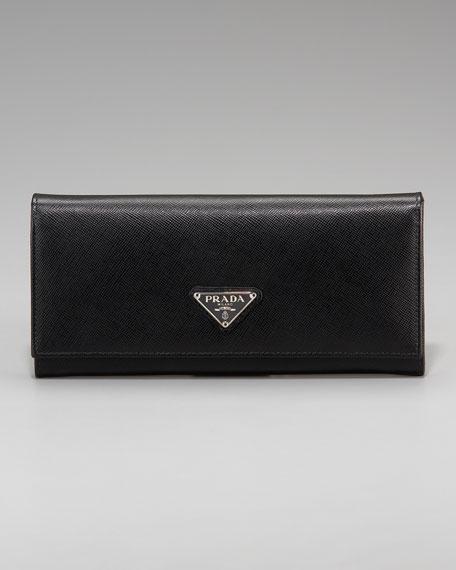prada saffiano vernice wallet