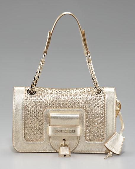 Gwen Woven Leather Shoulder Bag
