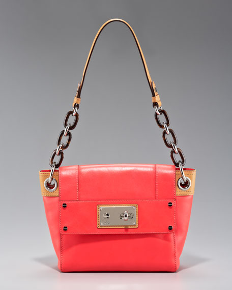Mina Leather Shoulder Bag