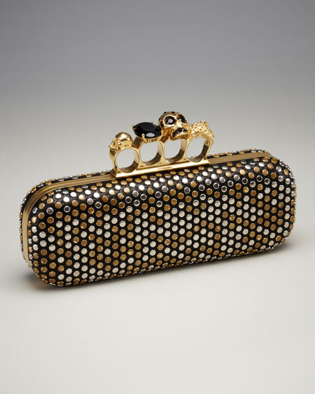 Studded Knuckle-Duster Clutch