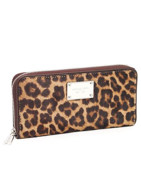 Jet Set Continental Wallet, Leopard