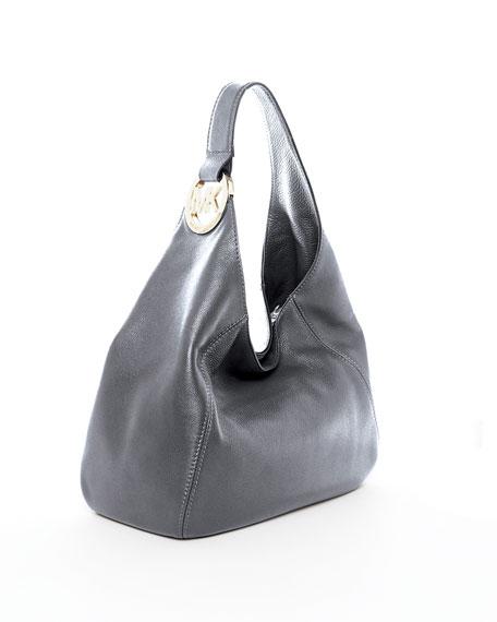 Fulton Large Shoulder Bag, Gunmetal