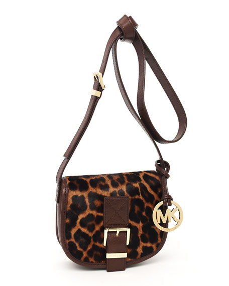 Small Saddle Messenger, Leopard-Print