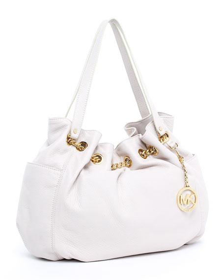 Jet Set Chain Ring Tote Bag, Vanilla