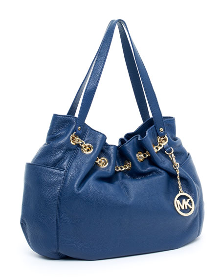 Jet Set Chain Ring Tote, Navy