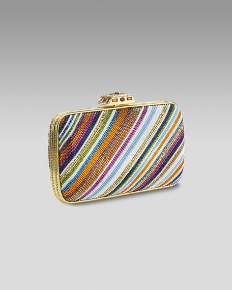 Pave Striped Clutch, Multicolor