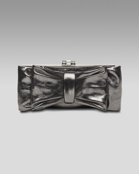 Monica Leather Clutch