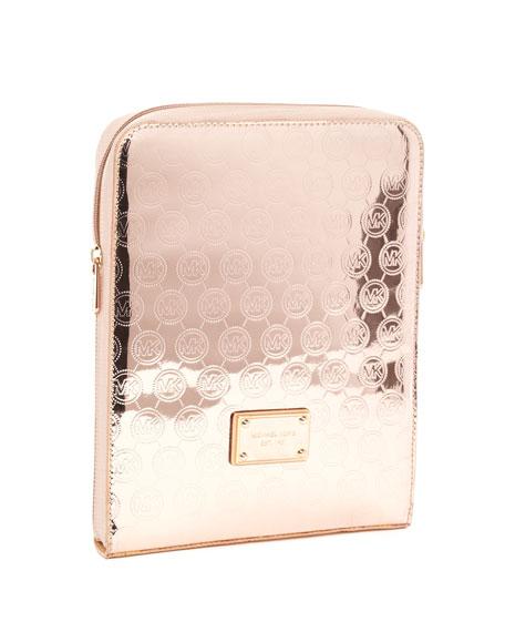 Monogram iPad Case, Rose Gold or White