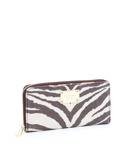 Jet Set Continental Wallet, Tiger Print