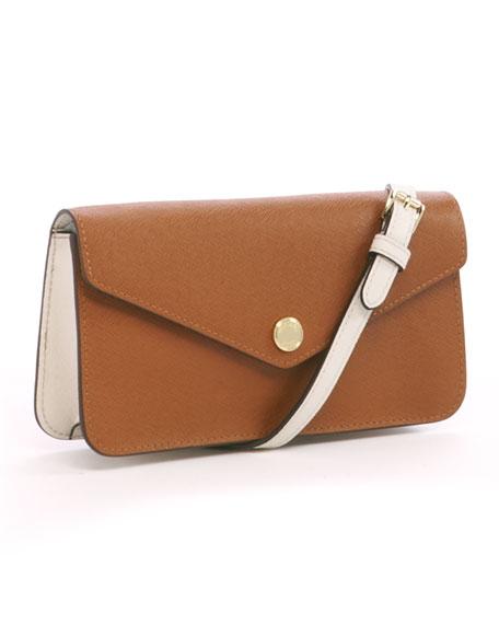 Saffiano Small Crossbody Bag, Luggage or Sun