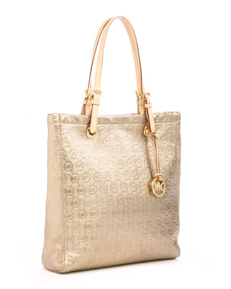 Jet Set Monogram Tote, Bronze