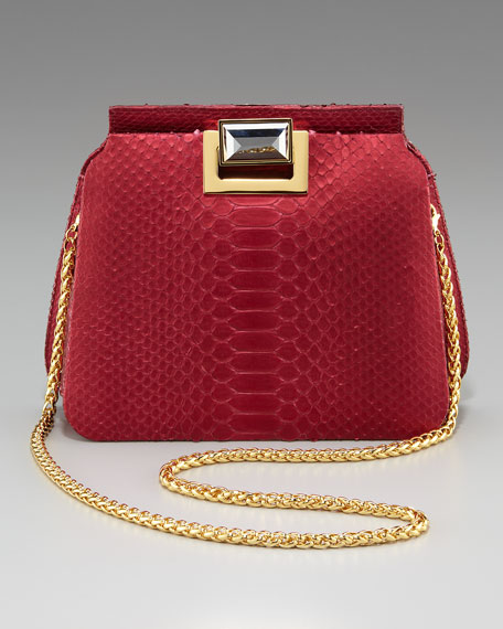 Sidra Python Shoulder Bag