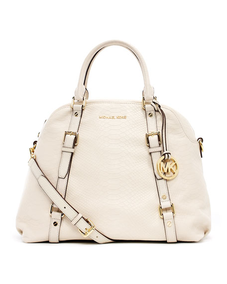 Bedford Extra-Large Bowling Satchel Bag, Dove White