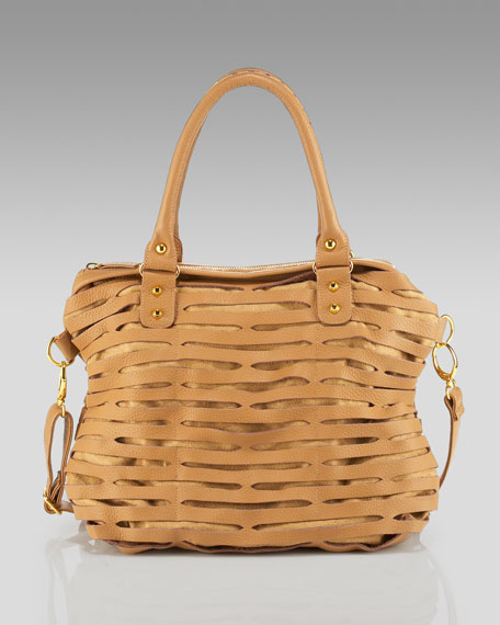 Biker Slash Mini Tote, Camel