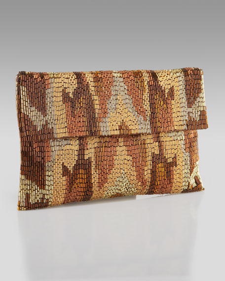 Ikat Beaded Clutch