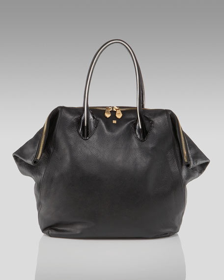 Jade Medium Tote, Black