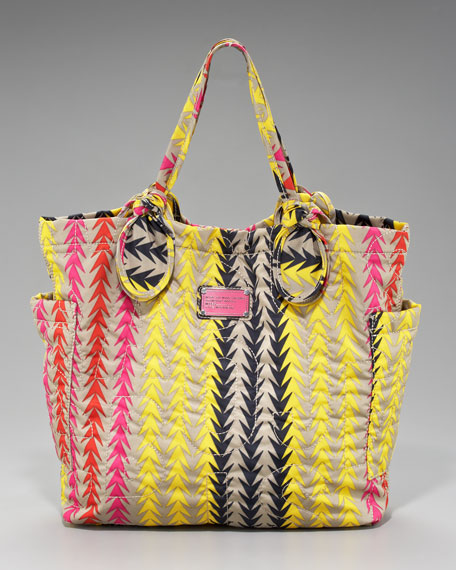 Medium Pretty Nylon Tate Tote, Chevron