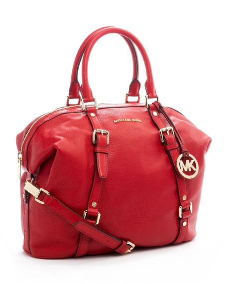 Large Bedford Bowling Satchel Bag, Red