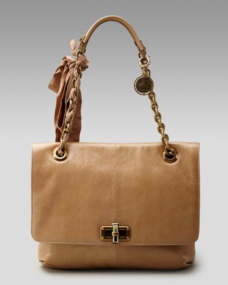 Snakeskin Happy Bag, Medium