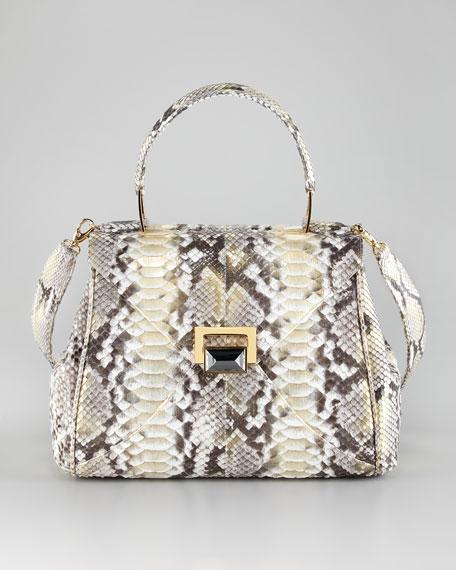 Kara Ross Trinity Python Satchel Bag