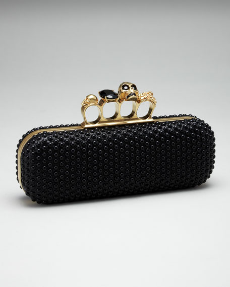Beaded Knuckle-Duster Clutch