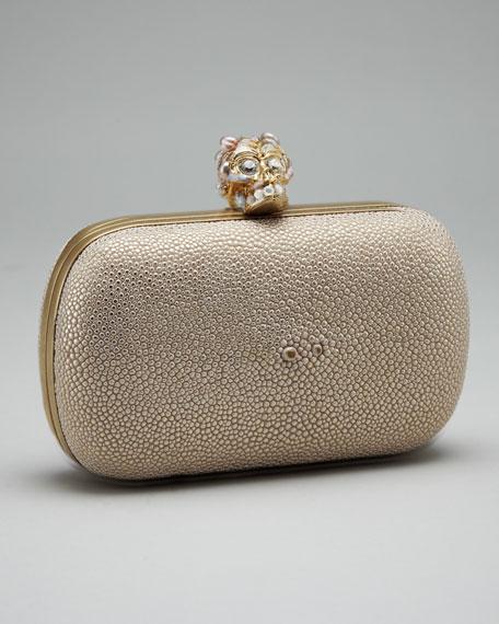 Pearl & Stingray Skull Clutch Bag