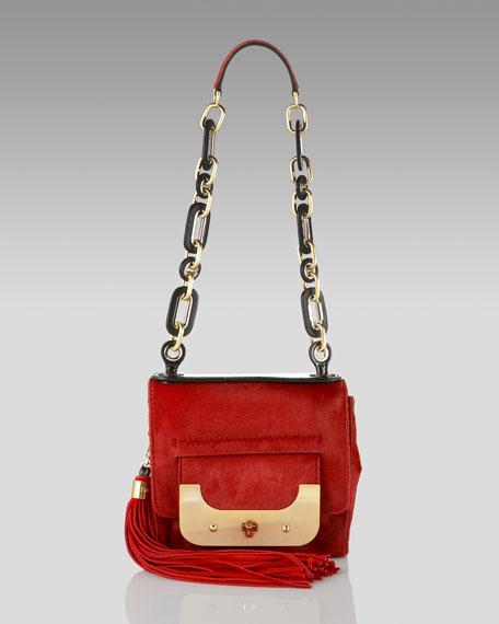 Calf Skin Harper Bag, Red
