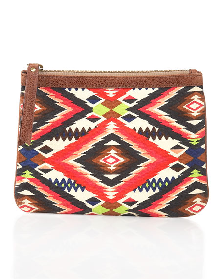 Tribal-Print Canvas Pouch (CUSP Top Seller!)