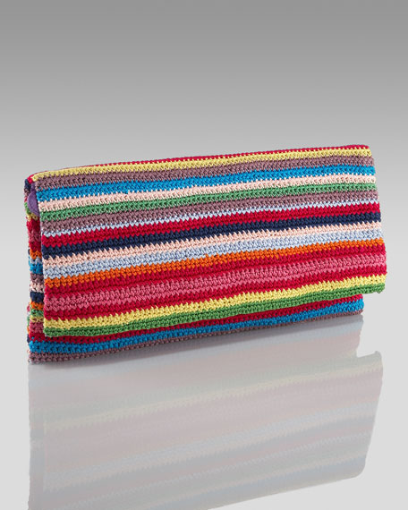 Crochet Fold-Over Clutch
