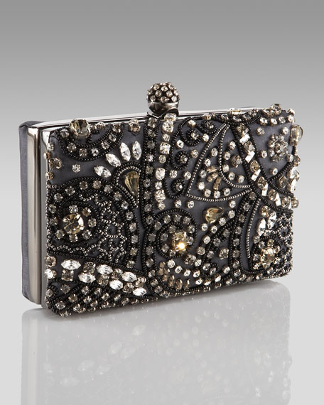 Beaded Framed Clutch