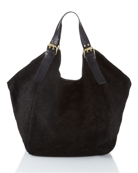 Berkeley Leather Tote Bag, Black