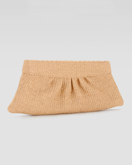 Louise Raffia Evening Clutch Bag, Natural