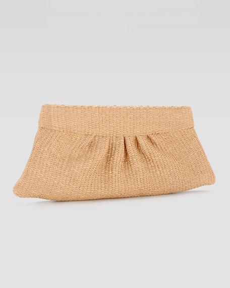 Louise Raffia Evening Clutch Bag, Natural