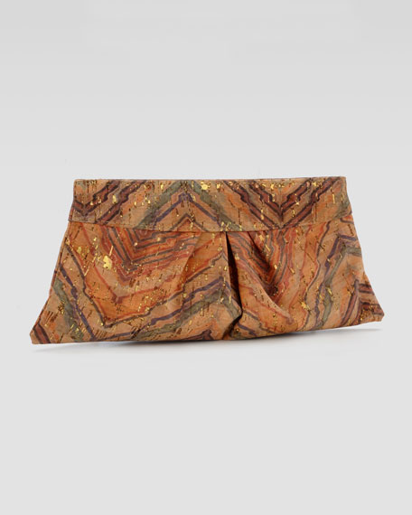 Eve Chevron Cork Clutch Bag