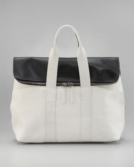 Polished Leather Combo Handbag