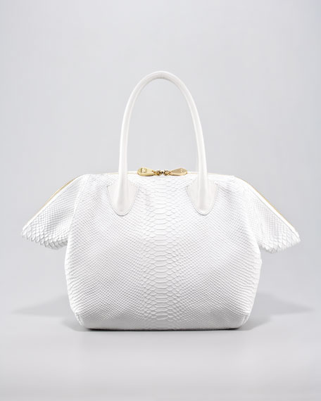 Pour la Victoire Roma Snake-Embossed Tote Bag