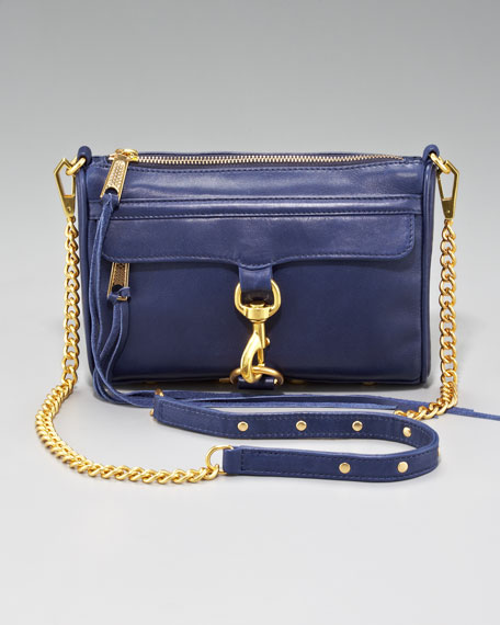 Mini M.A.C. Crossbody Bag, Navy