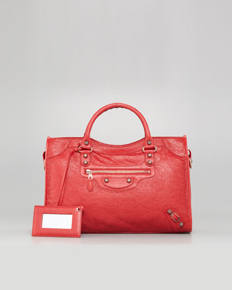 Giant 12 Rose Golden City Bag, Coquelicot Rouge
