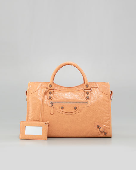Giant 12 Rose Golden City Bag, Rose Blush