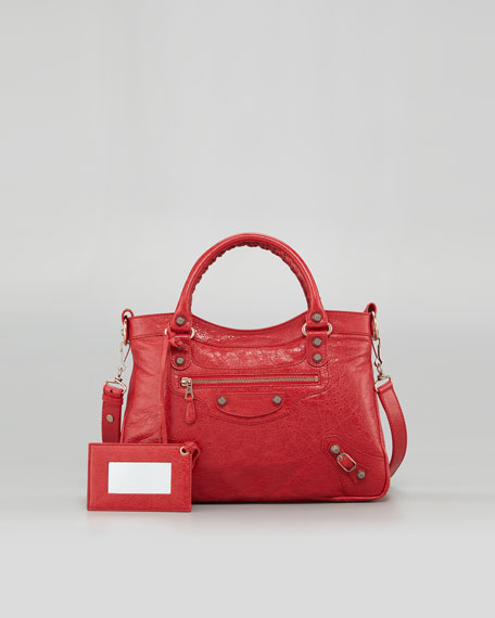 Giant 12 Rose Golden Town Bag, Coquelicot Rouge