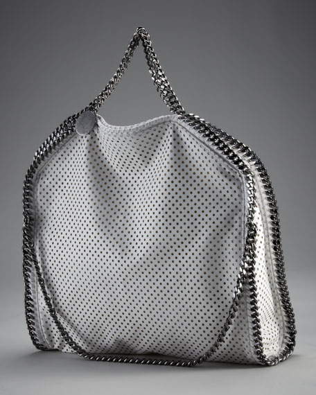 Faux Perforated Leather Tote