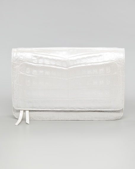 Crocodile Wallet on Chain, White Pearl