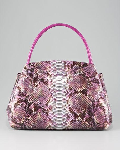 Top-Handle Croc & Python Bag