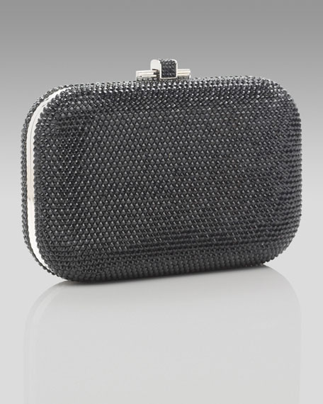 Slide Lock Minaudiere, Jet Black