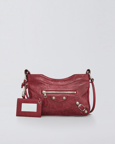 Giant Nickel Shoulder Bag, Pourpre/Ruby