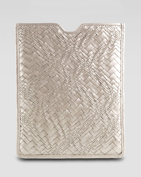 Woven Leather Tablet Sleeve