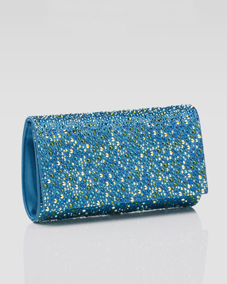 Fizzy Crystal-Encrusted Clutch Bag